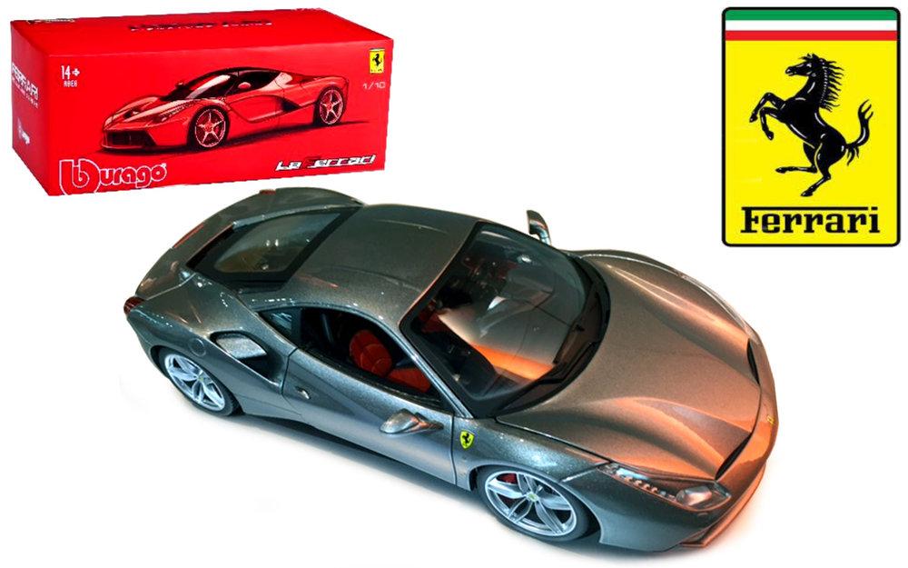 18-16905G  Ferrari 488 GTB, grijs, Bburago