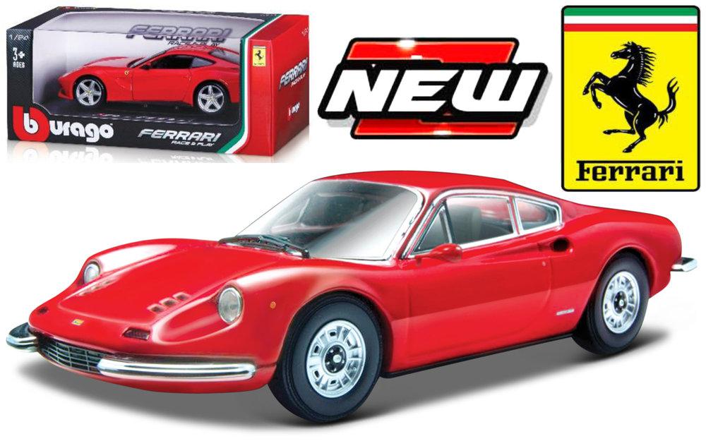 18-26015RED  Ferrari 246 GT, rood, Bburago
