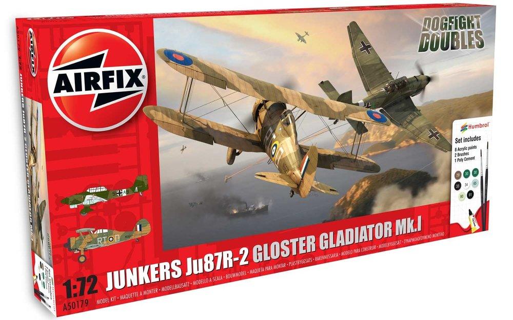Airfix: 50179  Junkers Ju87R-2 vs Gloster Gladiator Mk.I