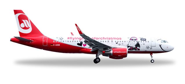 """529709  Airbus A320 """"Airberlin, Lindt-Christmass"""""""