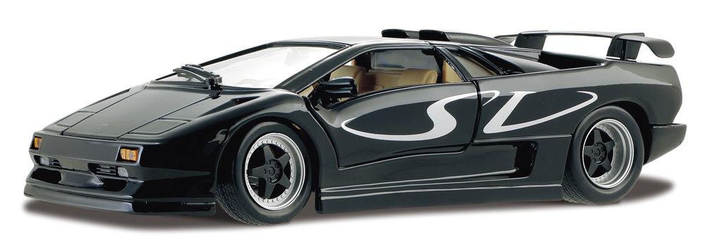 31844B  Lamborghini Diablo SV, zwart, Maisto