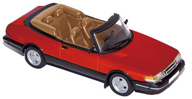 810042  Saab 900 Turbo 16 Cabriolet 1992, rood, Norev