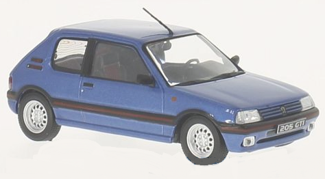 WB244    Peugeot 205 1600 GTI 1992, blauw, Whitebox