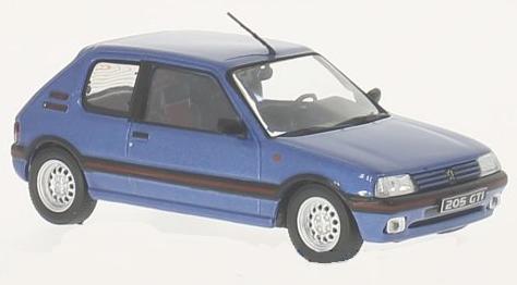 WB244  Peugeot 205 1600 GTI 1992, blauw, Whitebox