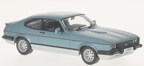 WB247    Ford Capri Mk3 2.8 Injection met. blauw/zilver, Whitebox