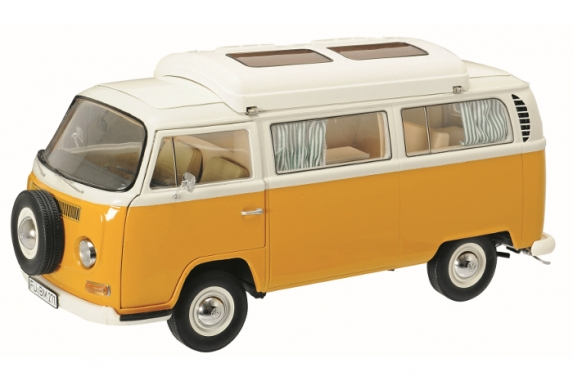 450018700  VW T2a Campingbus, oranje, Schuco