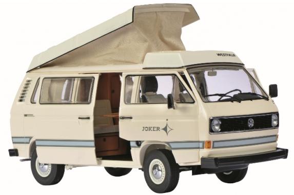 """450038600  VW T3 """"Joker"""" Campingbus met vouwdak, Schuco"""