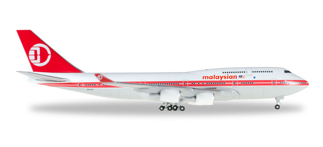 "529679    Boeing 747-400 ""Malasia Airlines, Retro Colors"""