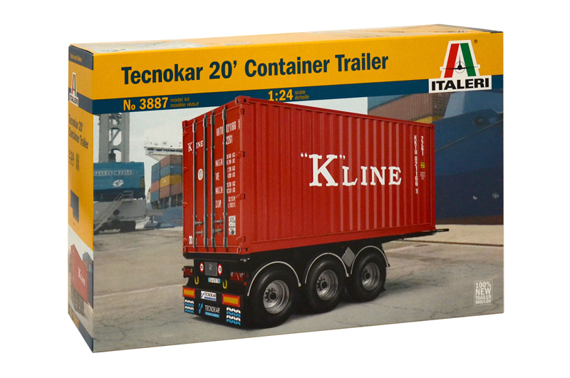 3887  Tecnokar 20' Container Trailer