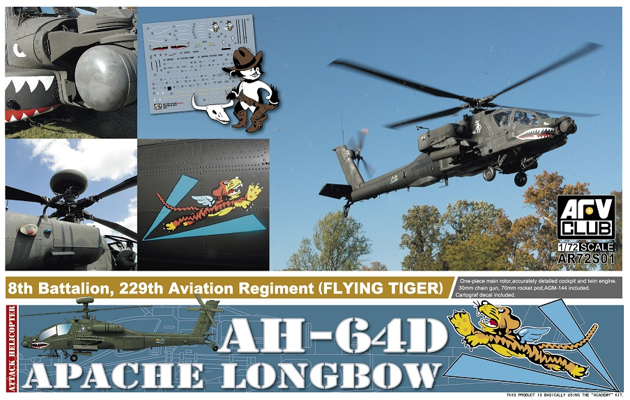 "72S01    AH-64D Apache Longbow ""8th Battalion, 229th Aviation Regiment (Flying Tiger)"""