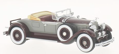 46520    Packard 640 Custom Eight Roadster, grijs/donkerrood, Neoscale Models