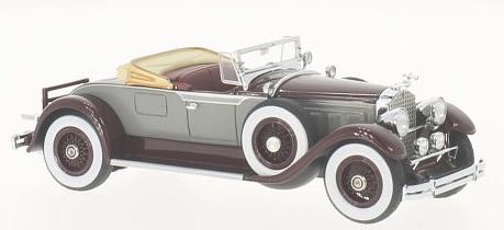 46520  Packard 640 Custom Eight Roadster, grijs/donkerrood, Neoscale Models