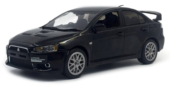 29294    Mitsubishi Lancer evolution X Final Edtion, Phantom zwart Mica, Vitesse