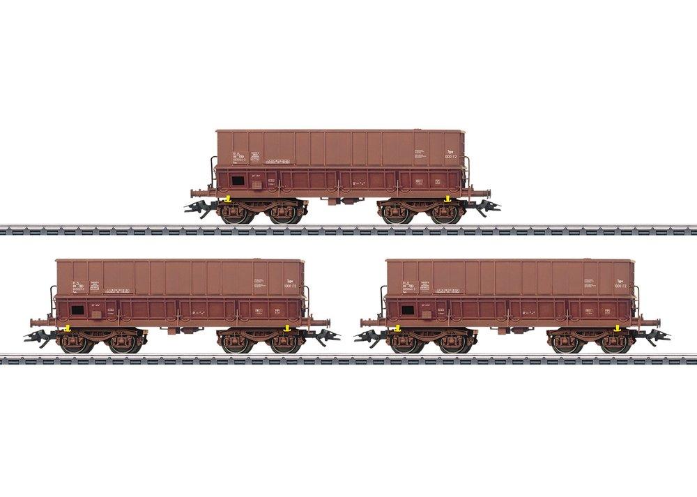 48435 : set van 3 ertsrijtuigen