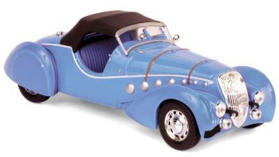 473206  Peugeot 302 Darl'Mat Roadster 1937, blauw met., Norev