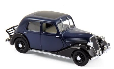 519155  Renault Celtaquatre 1936, donkerblauw & zwart, Norev