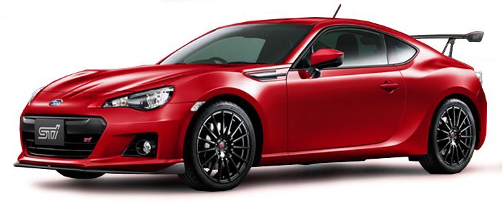 T9P10021  Subaru BRZ STi tS 2013, rood, Triple 9