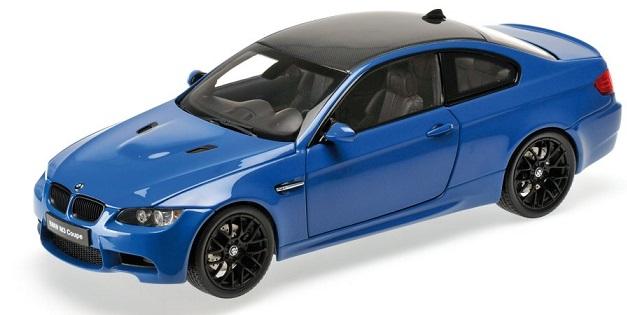 08734LBL  BMW M3 Coupé (E92M), Lagna Seca Blauw, Kyosho