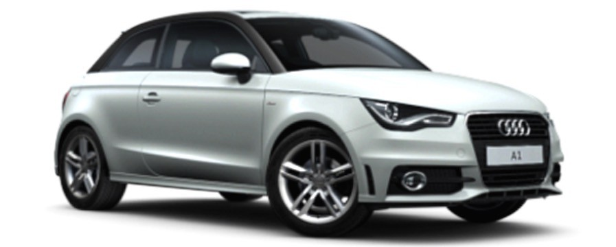 18-30230W  Audi A1, wit, Bburago