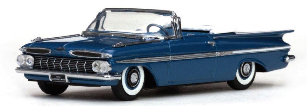 36230  1959 Chevrolet Impala Open Convertible, Harbor Blue, Vitesse