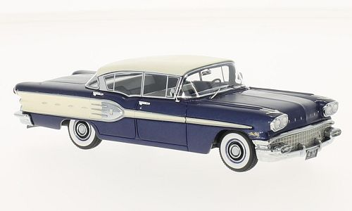 46260    Pontiac Starchief 4-door Sedan, donkerblauw/wit, Neoscale Models