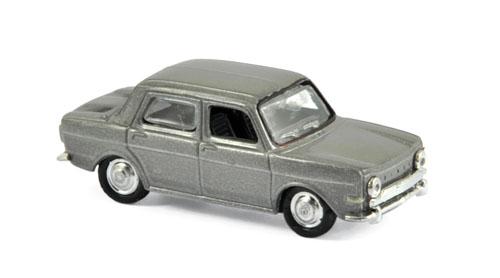 571092  Simca 1000 GLS 1968, Murphygrijs met., Norev