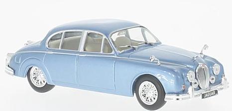 WB201  Jaguar Mk.II, 1960, Met. blauw, Whitebox