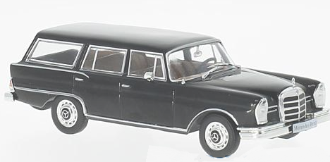 WB207    Mercedes-Benz 230 S Universal, 1967, zwart, Whitebox