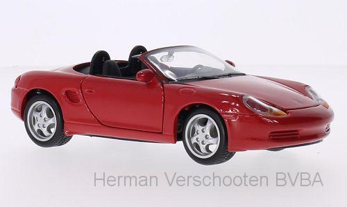 31933  Porsche Boxster, rood, Maisto