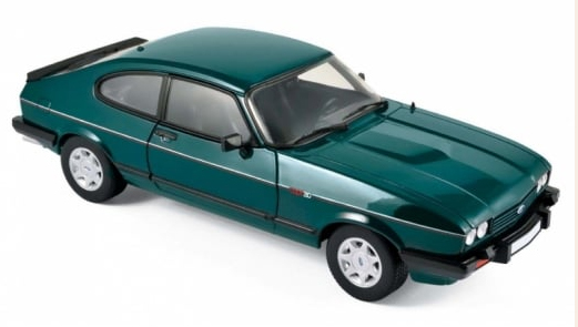 182718  Ford Capri 280 1986, Brooklands groen met., Norev