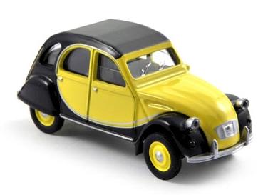 310506  Citroën 2CV Charleston, geel/zwart, Norev