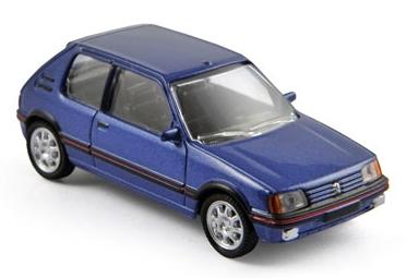 310504  Peugeot 205 GTi 1988, met. blauw, Norev