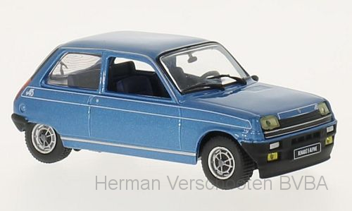 WB240    Renault 5 Alpine1976, blauw, Whitebox