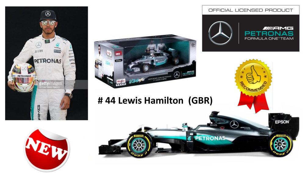 18-18001  Mercedes F1 W07 Hybrid Lewis Hamilton/