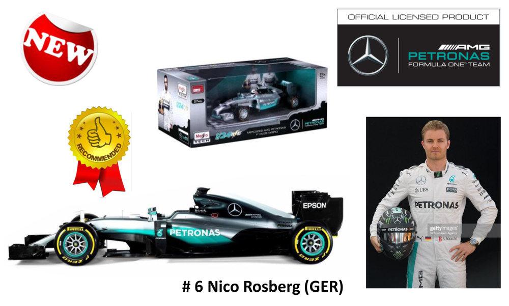 18-18001  Mercedes F1 W07 Hybrid Lewis Hamilton/Nico Rosberg