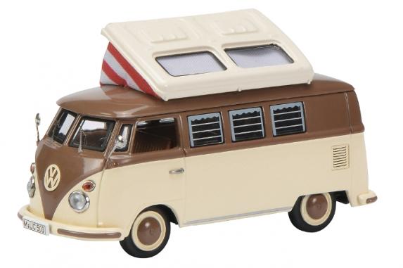 450369700  VW T1 Campingbus, beige/bruin, Schuco