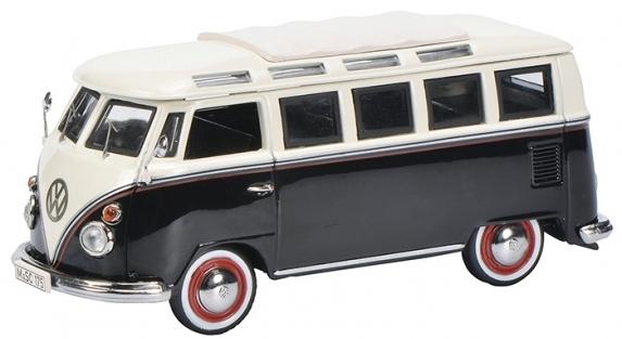 450369600  VW T1 Samba Bus, zwart/wit, Schuco