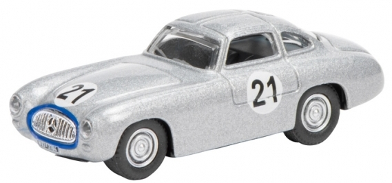 452618300  Mercedes-Benz 300 SL Prototype nr.21, zilver, Schuco