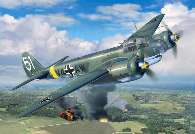 3935  Junkers Ju88 A-4, Revell