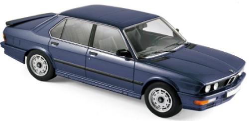 183267  BMW M 535i 1987, blauw met., Norev