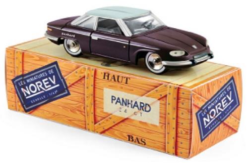 CL4511  Panhard 24 CT Quetsche & grijs Capelinos, Norev
