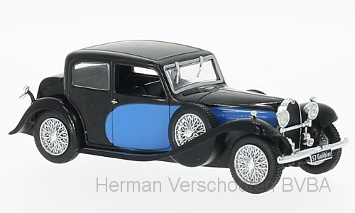 WB123    Bugatti 57 Galibier, blauw/zwart, Whitebox