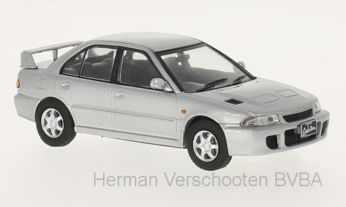 WB243    Mitsubishi Lancer Evolution I, 1992, zilver, Whitebox