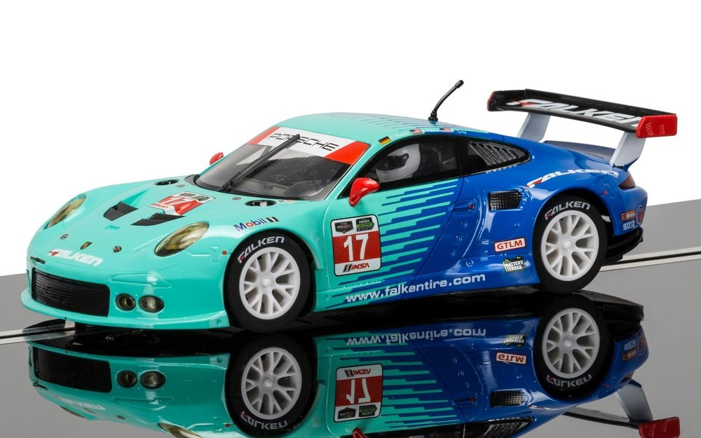 "3851    Porsche 911 RSR 2015 ""12 Hours of Sebring, Team Falken"", Scalextric"