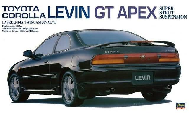 20254  Toyota Corolla Levin GT Apex, Hasegawa, Schaal 1/24