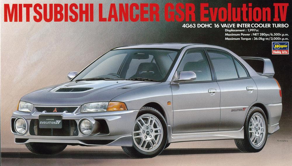 20257  Mitsubishi Lancer GSR Evolution IV, Hasegawa, Schaal 1/24