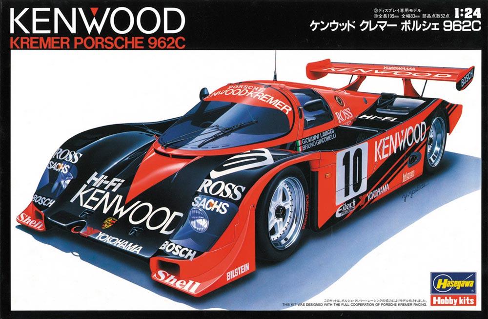 20287  Kenwood Kremer Porsche 962C, Hasegawa, Schaal 1/24