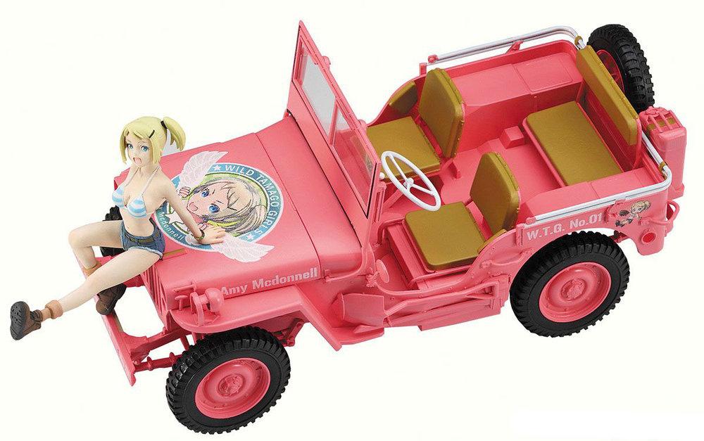 "52156  Wild Egg Girls 1/4 Ton Utility Truck ""Amy McDonnell w/ figure, Hasegawa, Schaal 1/35"
