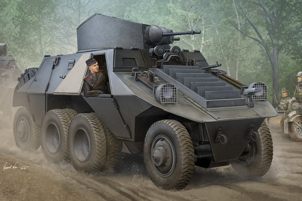83889  M35 Mittlere Panzerwagen (ADGZ-Daimler), Hobby Boss, Schaal 1/35