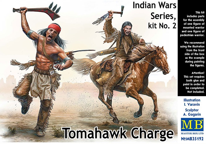 35192    Indian Wars series 2: Tomahawk Charge, MB, Schaal 1/35